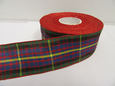 Cameron Red Green Tartan Ribbon 2 metres or 25 metres (Full Roll) double sided scotish 12mm, 16mm, 25mm & 38mm